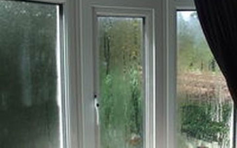 dripping wet uPVC windows